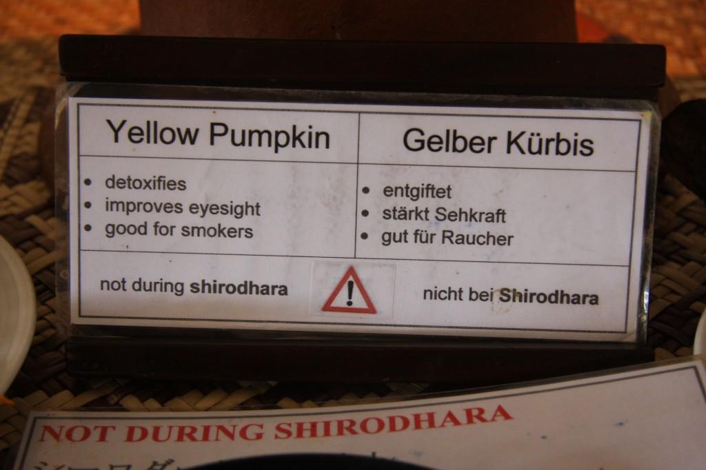 Auf die Zutaten beim Ayurveda-Essen wird sehr genau geachtet