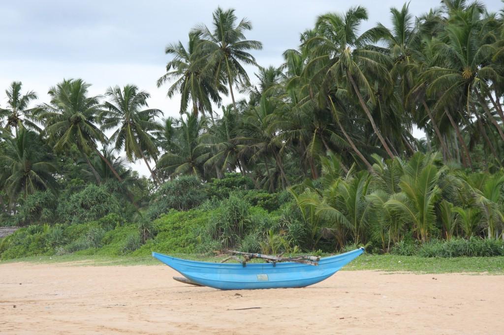 Der einsame, aber sehr schöne Strand von Induruwa