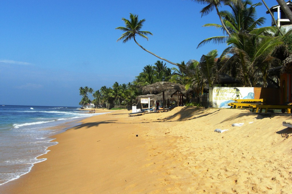 Hikkaduwa Beach in Sri Lanka