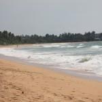 Der einsame Strand von Mirissa