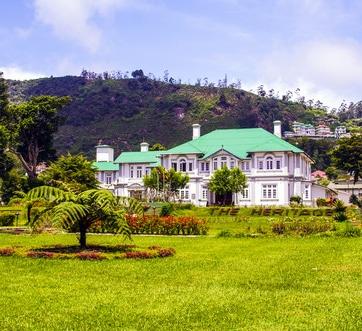 Altes englisches Kolonialhaus bei Nuwara Eliya, welche heute als Hotel genutzt wird