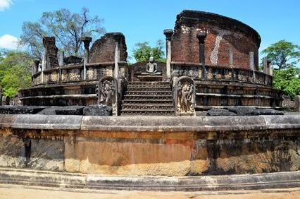 Eindrücke aus der alten Stadt Polonnaruwa in Sri Lanka