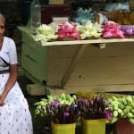 Blumenverkäuferin in Kandy