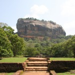 Der Felsen von Sigiriya - berühmte Attraktion in Sri Lanka