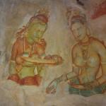 Malereien auf den Felsen von Sigiriya