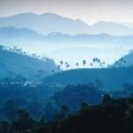 Blick von Adam's Peak zur Morgendämmerung