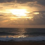 Sonnenuntergang am Strand von Sri Lanka