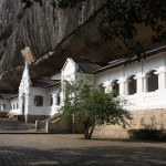 Höhlentempel von Dambulla in der Aussensicht